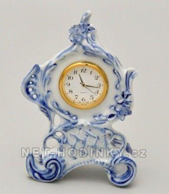 Porcelán Dubí Stolní hodiny porcelánové cibulový dekor 154587