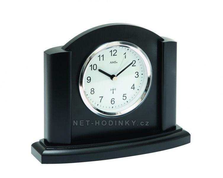 Stolní hodiny rádiem řízený čas AMS 5122/11 černý dub, AMS 5122/18 buk, AMS 5122 stříbrná 154524 5122/18 buk