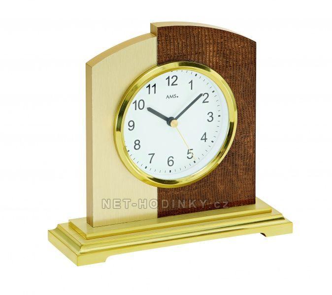 Stolní hodiny rádiem řízený čas AMS 5144, AMS 5145, AMS 5146 154525 5144 stříbrná