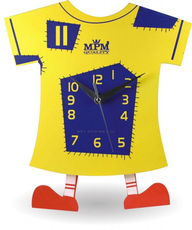 Nástěnné dětské Hodiny E01.2519.0101 155108 1030 - žlutá/modrá