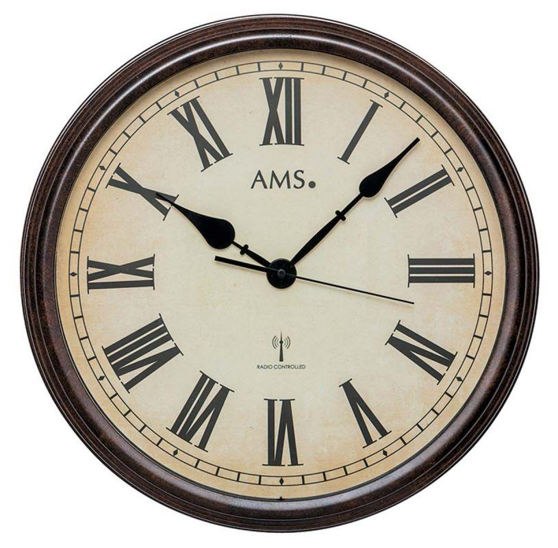 Nástěnné hodiny AMS 5977 rádiem řízené 156134