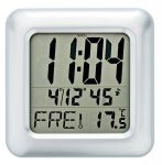 Nástěnné hodiny rádiem řízené AMS 5931 quartzové hranaté 156123