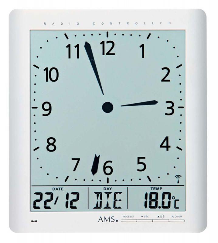 Rádiem řízené nástěnné hodiny AMS 5896 156119