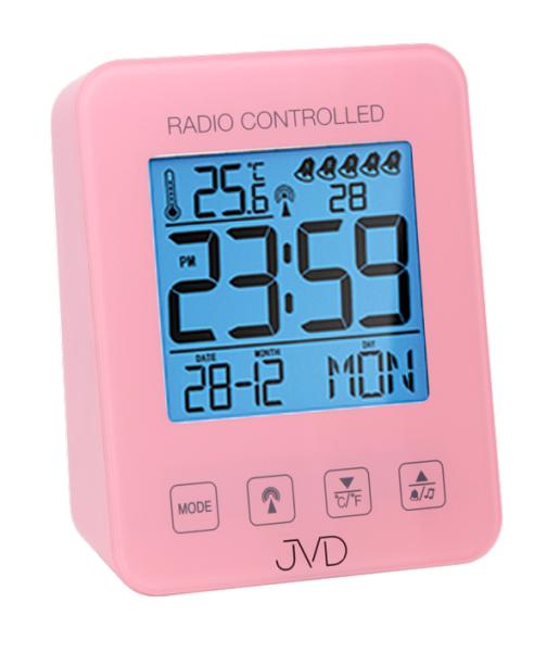 JVD Rádiem řízený budík RB38.2.2 růžová 156165