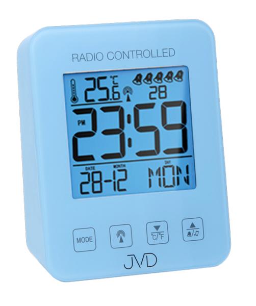 JVD Rádiem řízený budík RB38.3.3 modrá 156166