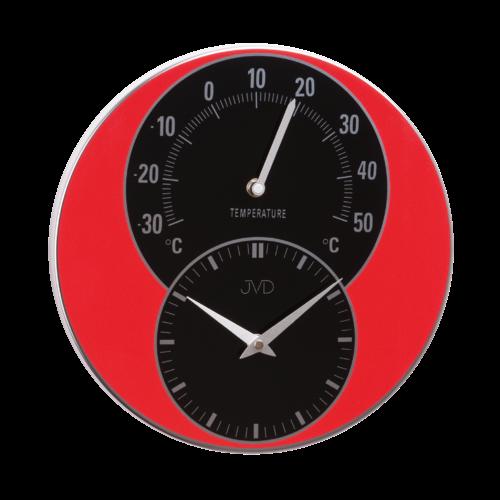 Nástěnné hodiny s teploměrem JVD HW35.1 156816