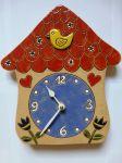 Dětské keramické nástěnné hodiny Pohádkový domeček 157931