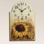 Keramické nástěnné hodiny Slunečnice 157926
