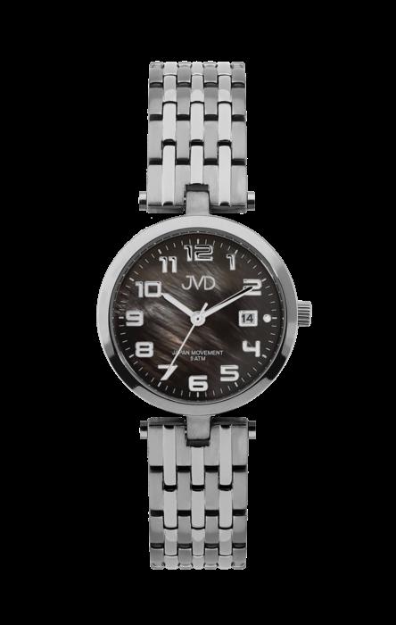 Náramkové hodinky JVD chrom titan, č.č. 158094