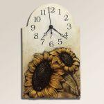 Velké keramické nástěnné hodiny Slunečnice 157924