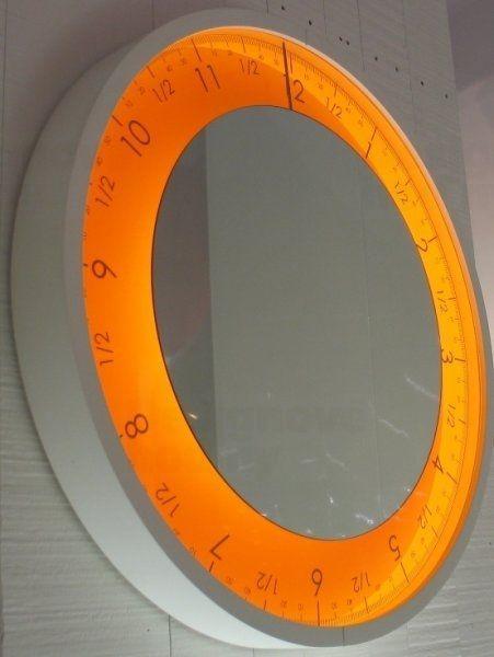 Designové LED hodiny Diamantini&Domeniconi 307P Solo Ora 50cm D&D barevnice LED LED oranžová / rám černý 160733