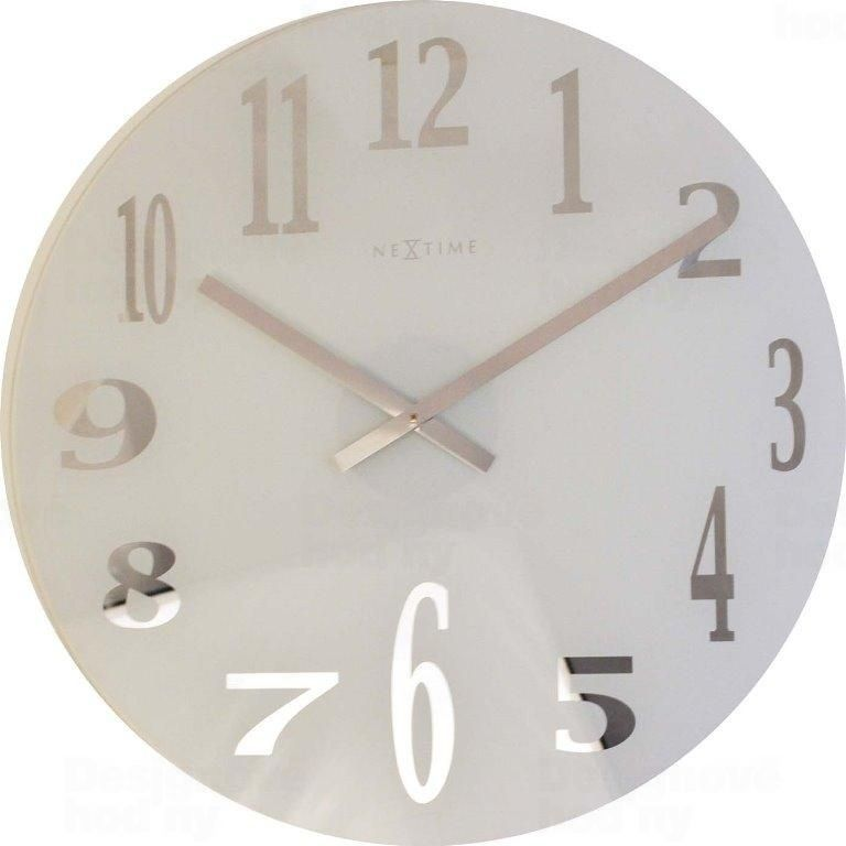 Hodiny na zeď Designové nástěnné hodiny 2472 Nextime Mirror 43cm 160680 Designové hodiny