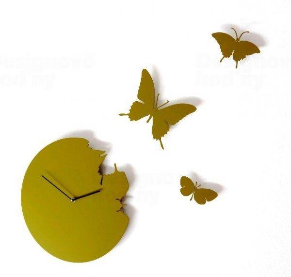 Diamantini&Domeniconi Designové hodiny Diamantini a Domeniconi Butterfly green 40cm 160807
