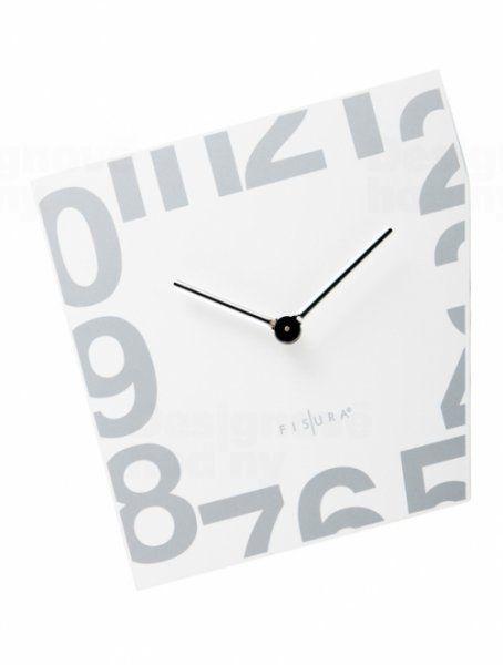 Fisura nástěnné hodiny Esquina White 21cm 160825