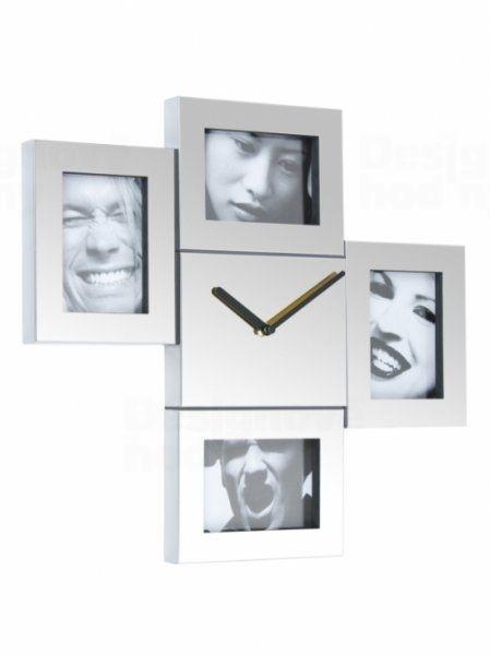 Fisura nástěnné hodiny Steel Photo Frames 43cm 160818