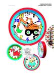Hodiny na zeď Nástěnné dětské hodiny Twins 10410 kočka 26cm 160898 Designové hodiny