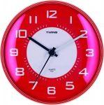 Nástěnné hodiny Twins 031 red 25cm 160900