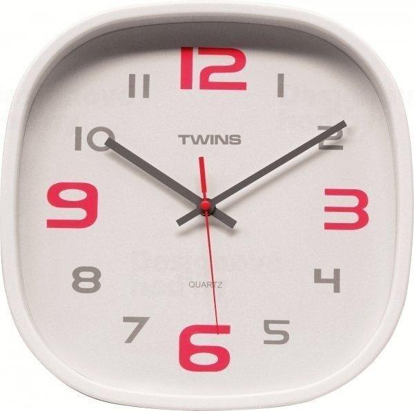 Nástěnné hodiny Twins 10513 white 30cm 160865
