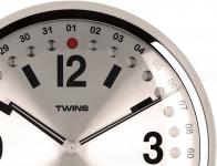 Nástěnné hodiny Twins 14 silver 32cm 160901 Hodiny