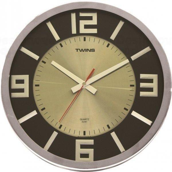 Nástěnné hodiny Twins 2361 wenge wood 32cm 160836