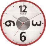 Nástěnné hodiny Twins 2789 red 26cm 160860