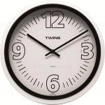 Nástěnné hodiny Twins 2896 black 31cm 160855