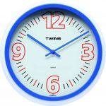 Nástěnné hodiny Twins 2896 blue 31cm 160854