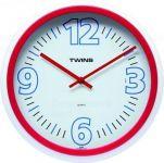 Nástěnné hodiny Twins 2896 red 31cm 160853