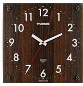 Nástěnné hodiny Twins 292-1 brown 30cm 160812