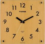 Nástěnné hodiny Twins 292-1 natur 30cm 160840