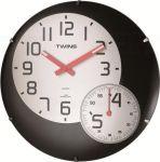 Nástěnné hodiny Twins 352 black 35cm 160849