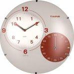 Nástěnné hodiny Twins 353 white 35cm 160848