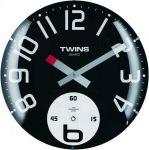 Nástěnné hodiny Twins 363 black 35cm 160894
