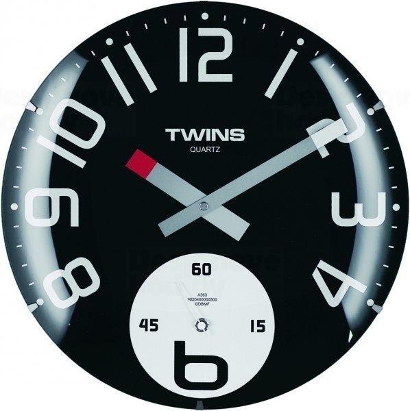 Nástěnné hodiny Twins 363 black 35cm 160894 Hodiny