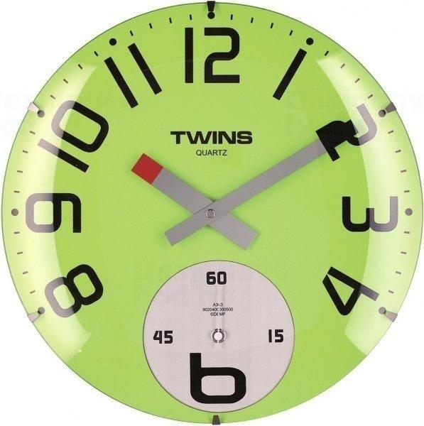Nástěnné hodiny Twins 363 green 35cm 160895 Hodiny