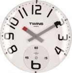 Nástěnné hodiny Twins 363 white 35cm 160893