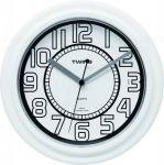Nástěnné hodiny Twins 406 white 23cm 160888
