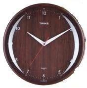 Nástěnné hodiny Twins 408 wenge numbers 31cm 160811