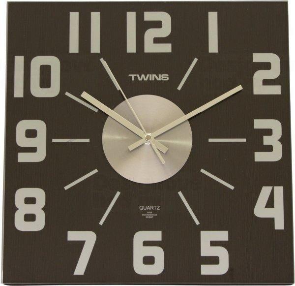 Nástěnné hodiny Twins 468 wenge 32cm 160841