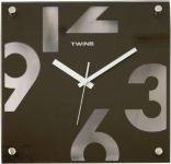 Nástěnné hodiny Twins 5080 brown 30cm 160897