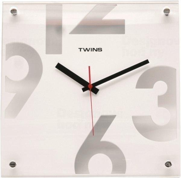 Nástěnné hodiny Twins 5080 white 30cm 160896 Hodiny