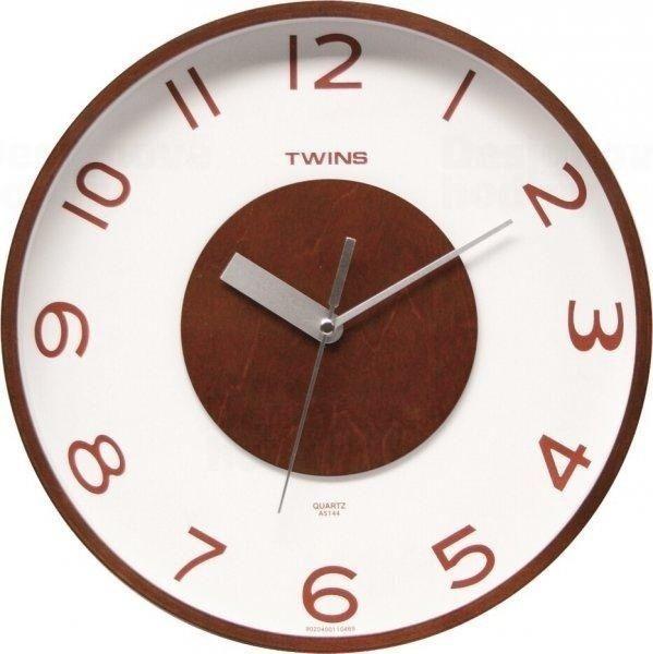 Nástěnné hodiny Twins 5144 wenge 30cm 160838
