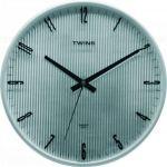 Nástěnné hodiny Twins 7911 silver 31cm 160861