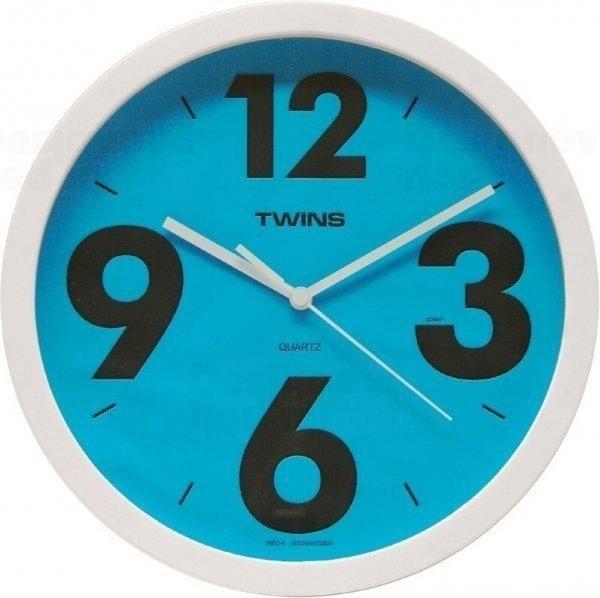 Nástěnné hodiny Twins 903 blue 26cm 160887 Hodiny