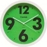 Nástěnné hodiny Twins 903 green 26cm 160886
