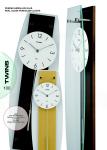 Nástěnné kyvadlové hodiny Twins 9897 natur 50cm 160905 Hodiny