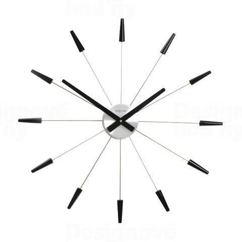 NeXtime Designové nástěnné hodiny 2610zw Nextime Plug Inn černé 60cm 161030