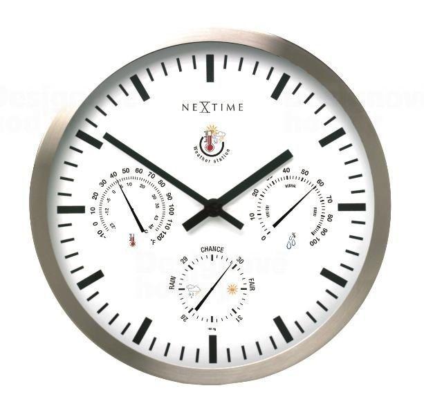 NeXtime Designové nástěnné hodiny 2635 Nextime Meteostanice 35cm 160991