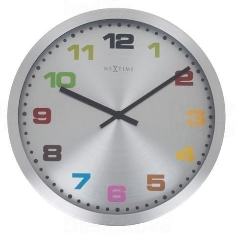 NeXtime Designové nástěnné hodiny 2907kl Nextime Mercure color 45cm 160988