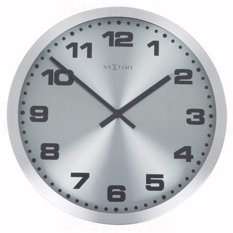 NeXtime Designové nástěnné hodiny 2907zw Nextime Mercure black 45cm 160989